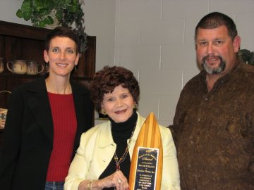 Pictured (L to R): Sandy Golding, Beaches Watch Inc. President; Bennie Furlong, award recipient; Tom Taylor, award nominator.