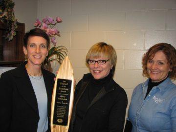 Pictured (L to R): Sandy Golding, Beaches Watch Inc. President; Marcy Silkebaken, award recipient; Bonnie Barnes, award nominator.