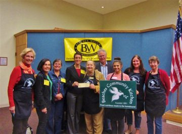 Beaches Community Kitchen members and Beaches Watch Board members