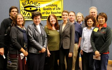 Ish Brandt Beautification Committee members and Beaches Watch Board members
