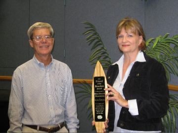 Pictured (L to R): Beaches Watch Vice President Darrell Shields and Riverbranch Foundation representative Judith Leroux